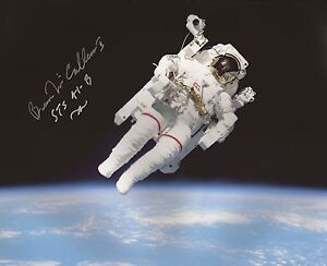 Bruce-McCandless-first-spacewalk-astronaut-hand-signed-photo-with-coa-UACC-AFTAL