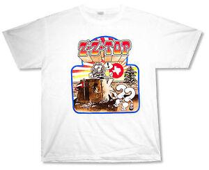 ZZ TOP RECREATION TOUR 2012 WHITE T SHIRT NEW OFFICIAL BAND MERCH