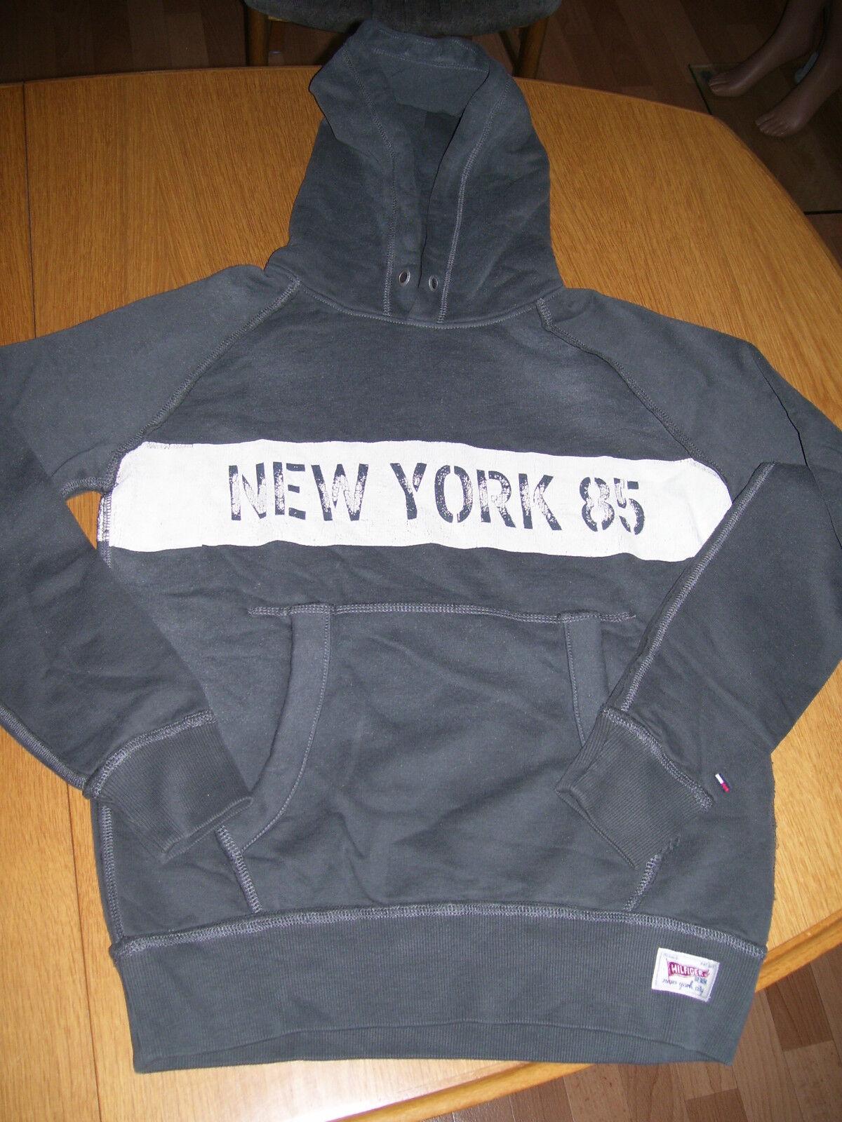Tommy Hilfiger NEW YORK 85 Hoodie Kaputzenpullover Kaputze Grau S oder M neu