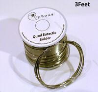 3 Feet Soldering Wire Cardas Quad Silver Eutectic Solder Pure Audio Solder Wire