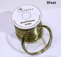 3 Feet Soldering Wire Cardas Quad Silver Eutectic Solder Pure Audio Solder Wire