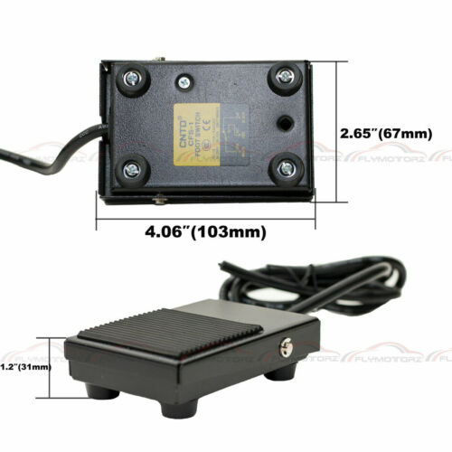 1 Pcs Metal Foot Switch 10A SPDT NO NC Electric Power Pedal Momentary New CNC US