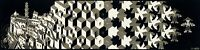 M.C. Escher 'Metamorphosis' - FINE ART PRINT, Optical Illusion Vintage Escher