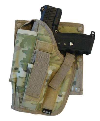 pas multi cam AK6 Paintball cross draw pistolet holster main gauche-big