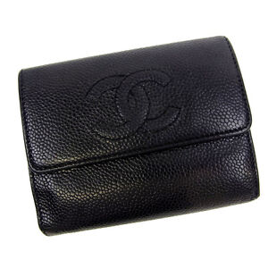 f1a49d158241fb Image is loading Chanel-Wallet-Purse-Trifold-COCO-Black-Mens-Authentic-