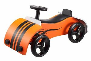 BIKESTAR-Ride-On-Wheely-Vehicle-Car-4-Wheeler-Kids-18-mos-Wood-Racer-Orang