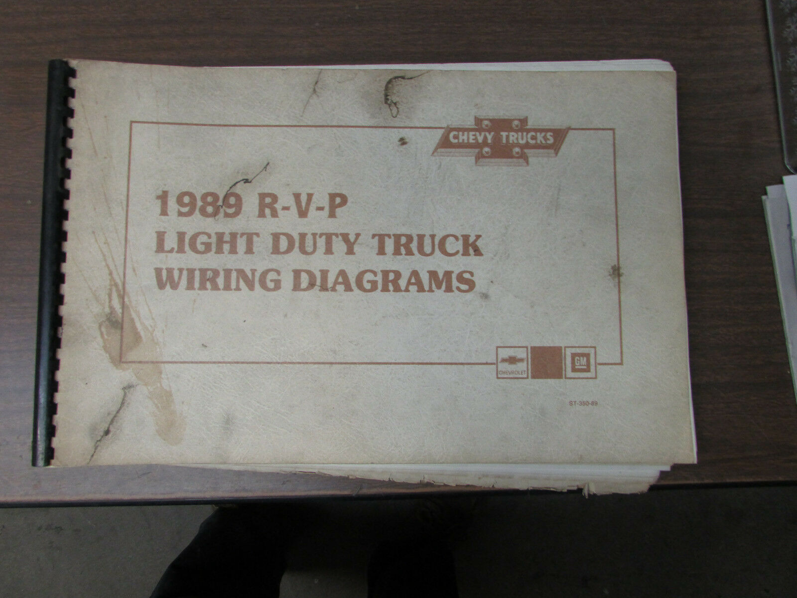 1989 Chevrolet R V P Light Duty Truck Wiring Diagrams Manual Ebay