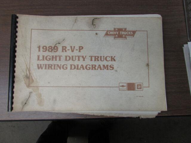 1989 Chevrolet R V P Light Duty Truck Wiring Diagrams Manual Ebay