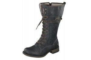 Dark Heel 633 Boots Grey Lace New Mustang Up Calf Low Military 1139 wHaqtn1