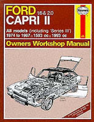 Ford Capri II All Models 1974-87 Owner's Workshop Manual (Service &-ExLibrary