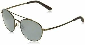 Revo-Unisex-RE-1045-Helix-Round-Polarized-Sunglasses-Brown-Frame-with-Blue-Lens