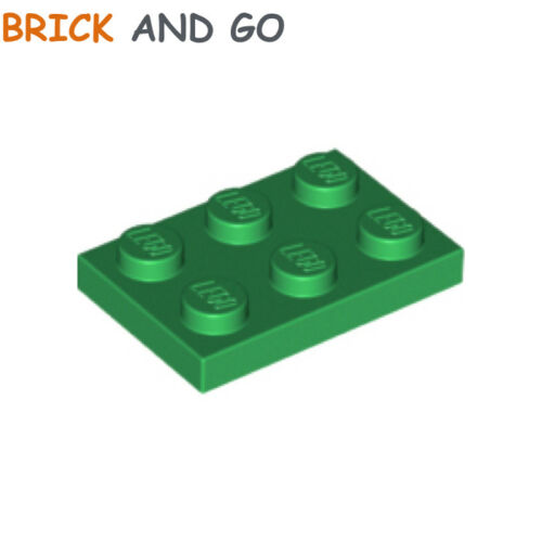 8 x LEGO 3021 Plaque vert green Plate 2x3 NEUF NEW
