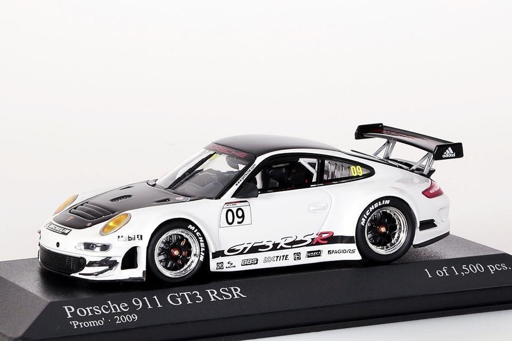 Porsche 911 GT3 RSR Presentation 2009 2009 2009 Minichamps 1 43 NEU OVP 6b9540