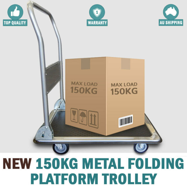 NEW 150 KG Heavy Duty Push Platform Cart Moveable Dolly Hand Truck Trolley