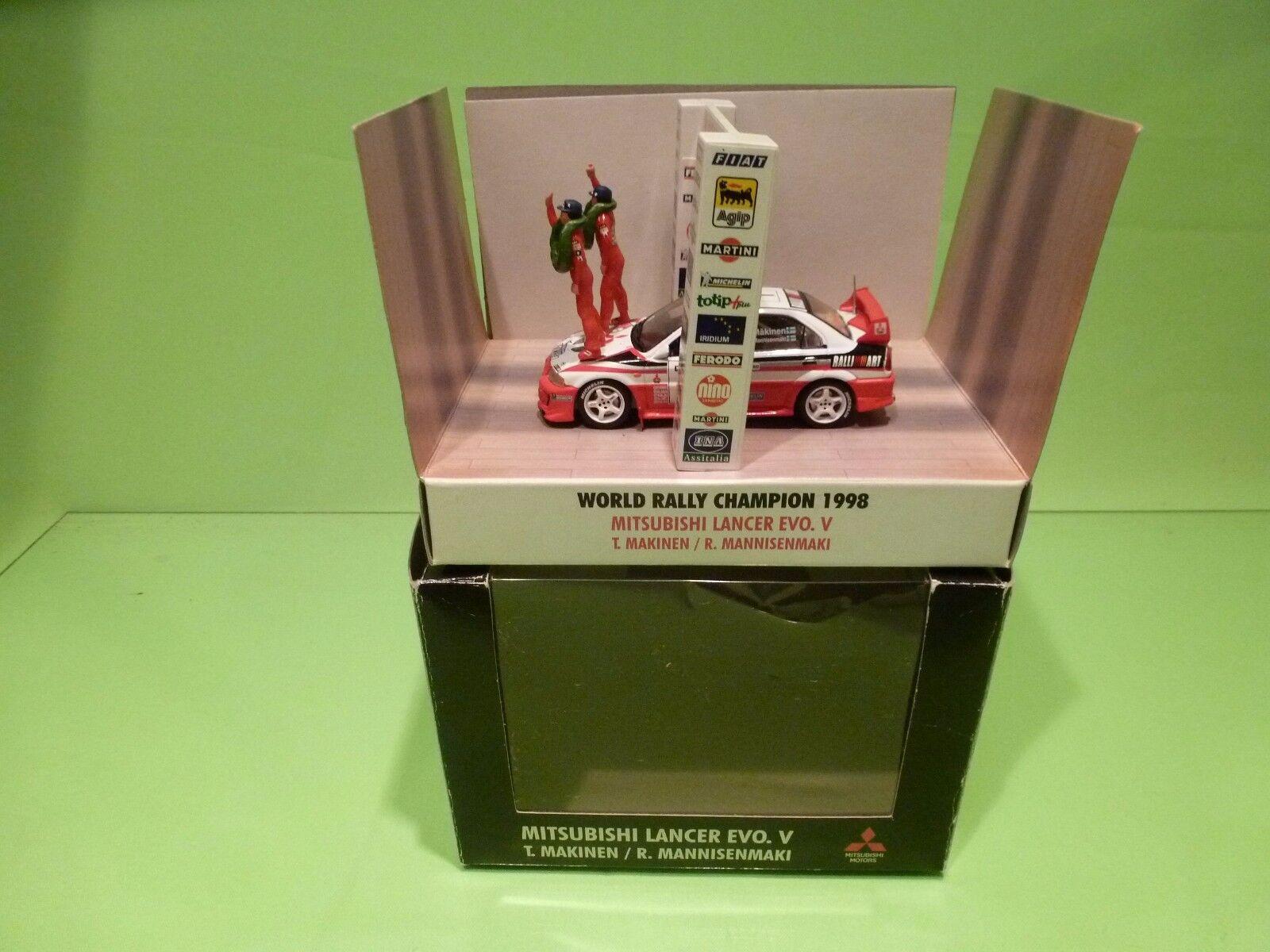 SKID MITSUBISHI LANCER EVO V - MAKINEN MANNISENMAKI - WRC 1998 CHAMPION - rosso