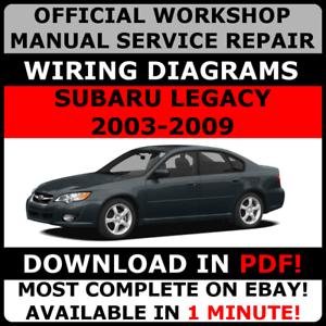 image is loading official-workshop-service-repair-manual-subaru-legacy-2003-