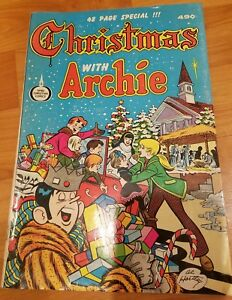 Christmas-With-Archie-RARE-48-Page-Special-Christian-Spire-Comics-Book-1974-Vint