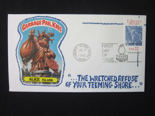 1986 GARBAGE PAIL KIDS 3rd S LIBERTY LIBBY Alice Island 113 a b 1st day issue