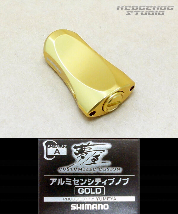 SHIMANO SHIMANO SHIMANO Genuine YUMEYA Aluminium Sensitive Handle Knob Gold 085a14