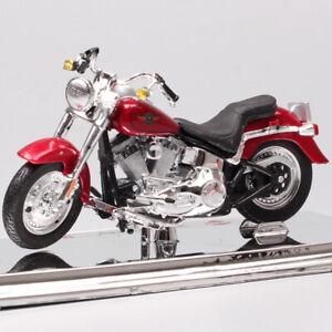 1 18 Harley Davidson 2004 Flstfi Fat Boy Softail Diecast Model Motorcycle Toys Ebay