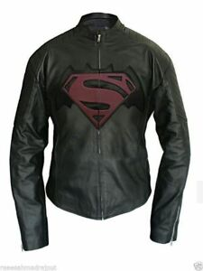 Men-039-s-Faux-Leather-Jacket-Halloween-Batman-Vs-Superman-2016-Dawn-of-Justice