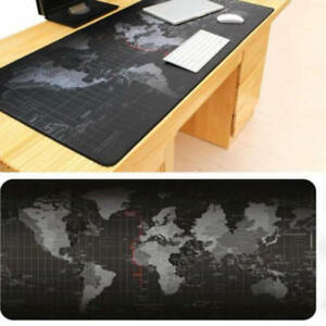 World-Map-Gaming-Mouse-Pad-Black-Large-Desk-Pad-Non-slip-Rubber-300-600-2mm-MCS