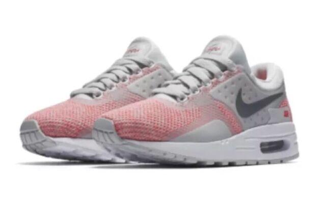 Nike Air Max 1 QS GS Girls Boys UK 5.5 EUR 38.5 White Red 827657 101