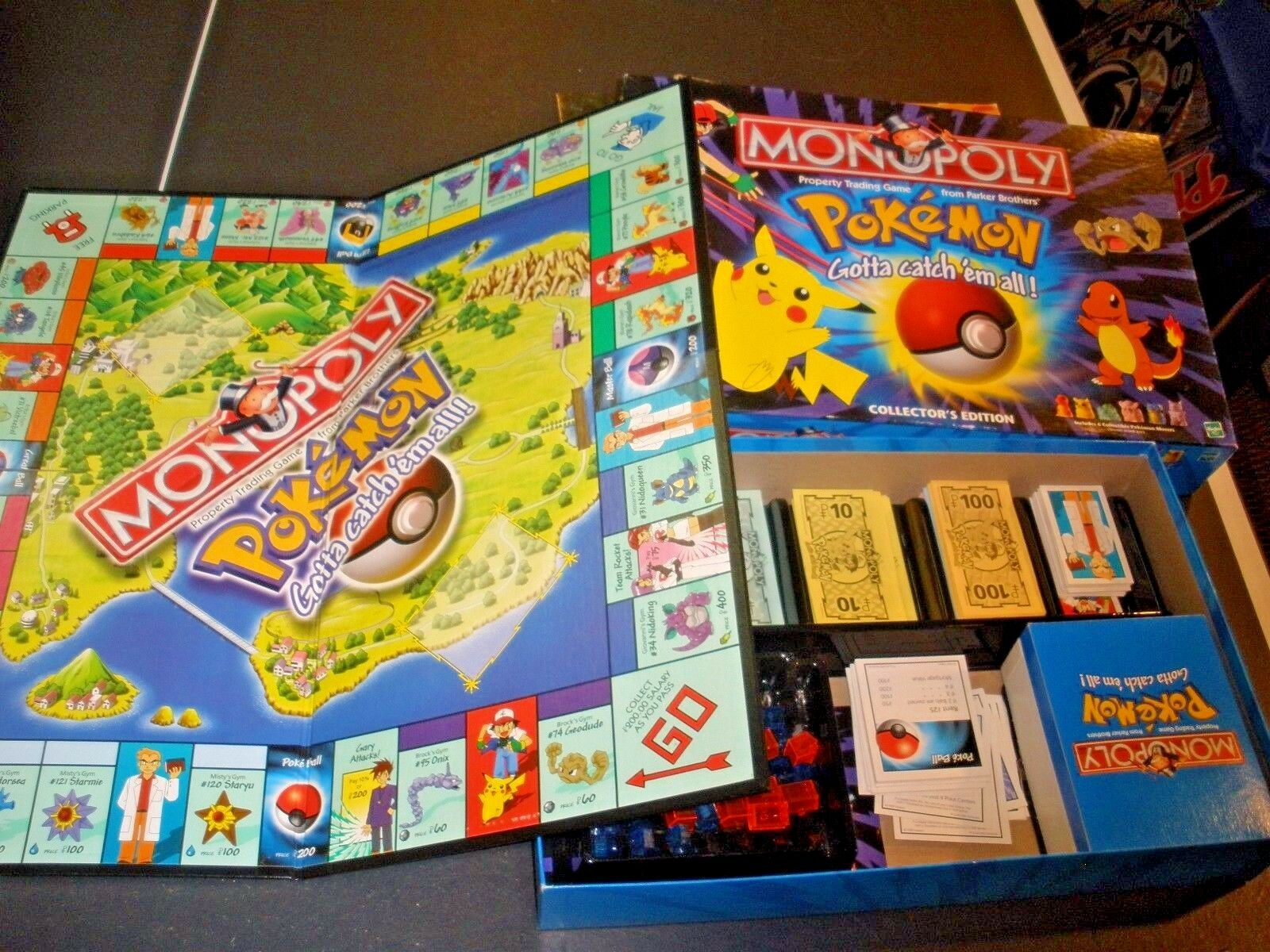 Pokemon Monopoly Collector's Edition Hasbro 1998 100% COMPLETE