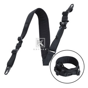 Krydex-Modular-Sling-2-1-Point-Padded-Tactical-Shooting-Sling-Removable-Black