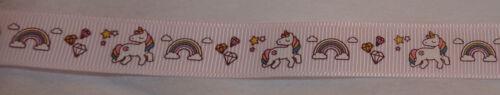 1-2 m Bertie/'s Bows Pastel Licorne Ruban-Blanc//Rose Ou Lilas #CRAFT