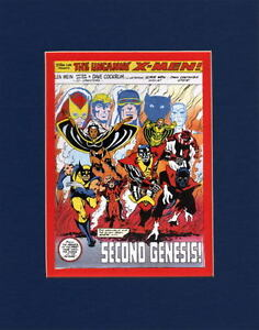 UNCANNY-X-MEN-SECOND-GENESIS-MATTED-PRINT-Frame-Ready-Marvel