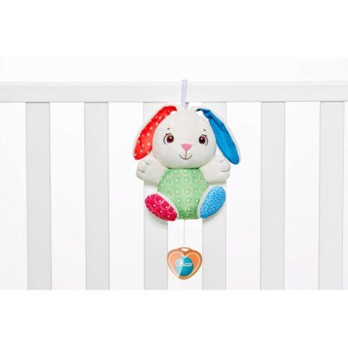 Giochi CHICCO First Love Fluffy Carillon Coniglio Peluche Natale Chiama Angeli