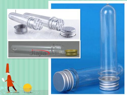 12pcs 40ml Plastic Tubes w/ aluminum cap Clear Makeup Mask Dispenser Bottle Seal