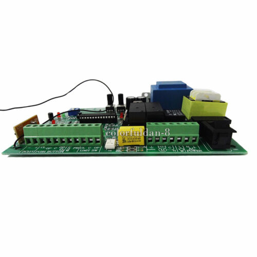 1PCS AC Sliding Gate Opener Control Board With 2PCS Remote Control,Learning Code