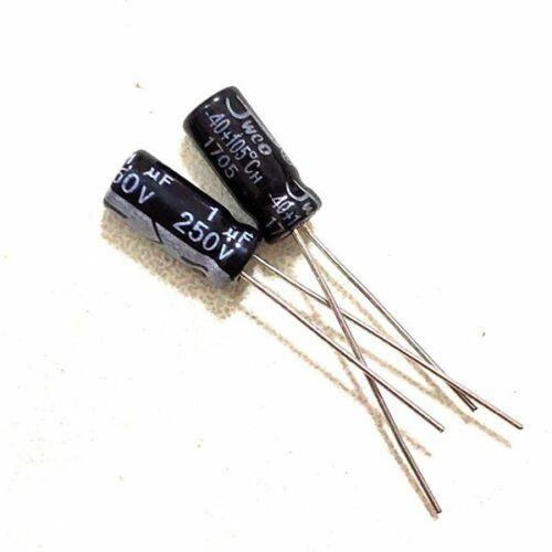 50PCS 250V 1uF 250Volt 1MFD 105C Aluminum Electrolytic Capacitor 5×11mm NEW