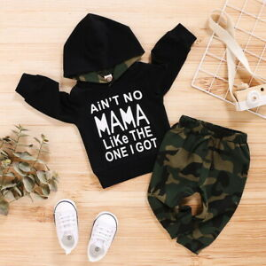 Infant-Newborn-Baby-Boys-Hooded-Tops-Pants-Camo-Outfits-Set-Clothes-Tracksuit-UK