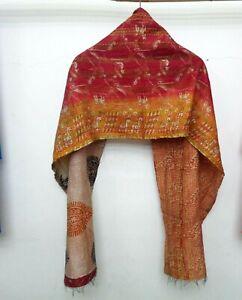 Silk-Kantha-Scarf-Neck-Wrap-Stole-Dupatta-Quilted-Women-Bandanas-headband-KO02