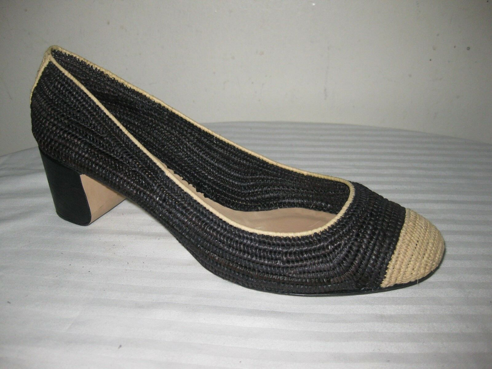Reed Krakoff Straw Woven Round Toe Pumps Shoes Shoes Pumps Women's Size 38.5 / 8.5 f7a745