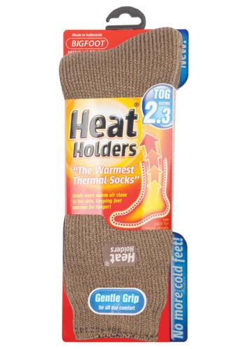 Heat Holders-Homme épaisseur 2.3 Tog Hiver Chaud Chaussettes Thermiques Bigfoot 12-14 UK
