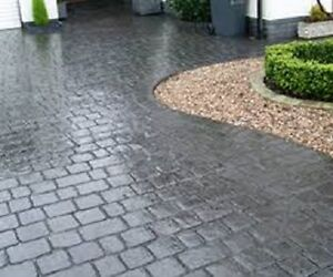 Coloured Concrete Driveway Sealer Imprinted Concrete