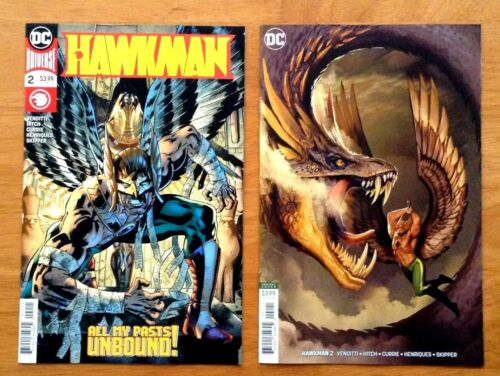 Hawkman 2 Covers A Stjepan Sejic Variant Cover 1st Prints DC 2018 NM+
