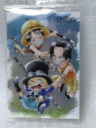 ONE PIECE Our Memories Wafer Card No.10 Luffy Ace and Sabo