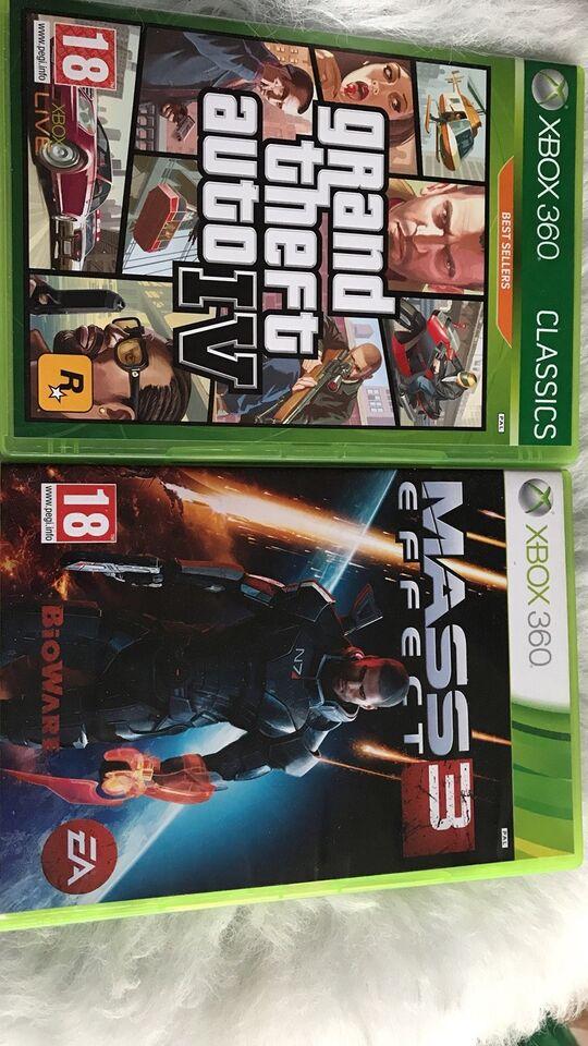 Mass 3, Grand theft auto , Xbox 360