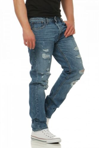 Herren Blau Tuyau Am Jones Jack Mike Original Jeans Fit Confort aSP7B67