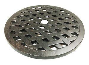 Lazy-Susan-turntable-30-034-rotates-360-degrees-patio-cast-aluminum-Nassau-Bronze