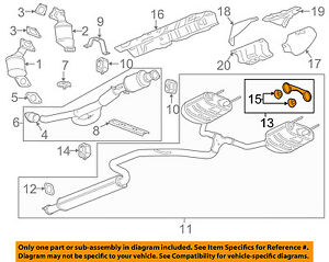 gm oem exhaust muffler pipe hanger 23380570 ebay rh ebay com GM 3800 V6 Parts Diagram Chevy Impala 3.8 Engine Diagram