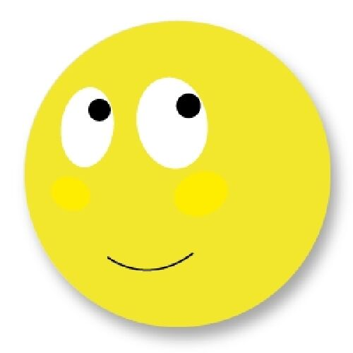 Porte clé Keychain Ø45mm Smiley Face Smile Smiling Emo Emoticones Happy Face