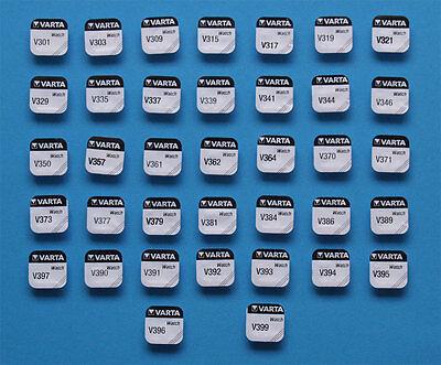 Wählen Sie zwischen 1 - 5 oder 10 Varta Watch V 301 - V 399 1,55V Uhrenbatterie