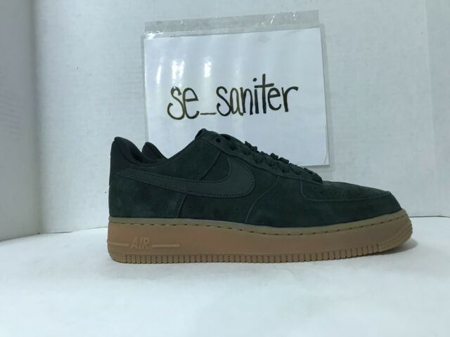 buy popular be31f e5566 Nike Air Force 1  07 LV8 Low Top Suede Outdoor Green AA1117 300 Men s Size
