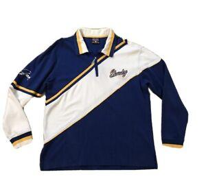 Eminem-Shady-LTD-Pullover-Shirt-Mens-Medium-L-Rugby-Colorblock-Blue-Yellow-White